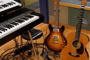 キーボードとギター