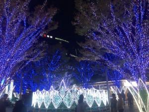 博多駅前ライトアップ
