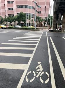 台湾の横断歩道