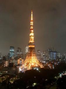 東京タワープリンスホテルから