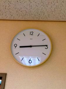 楽屋の時計